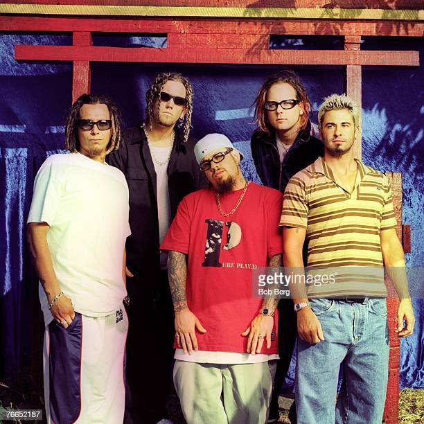 American nu metal rock band Korn lead guitarist James Munky Shaffer lead guitarist Brian Head Welsh bassist Reginald FieldyArvisu lead vocalist...