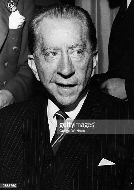 American oil magnate millionaire and art collector J Paul Getty attends a Foyle's literary luncheon in London