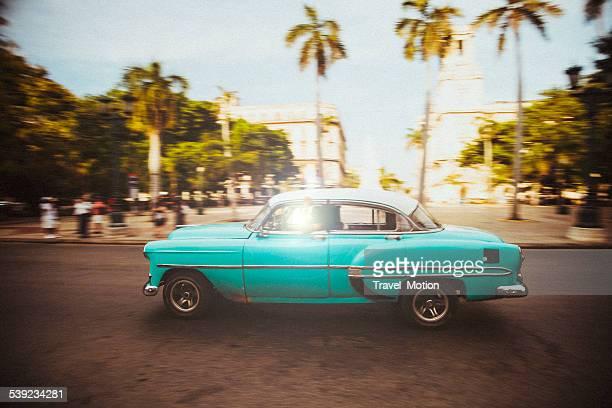 Carro Cuba cruzeiros as ruas de Havana, Cuba
