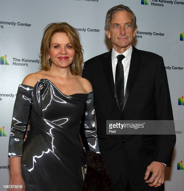 American opera singer and soprano Renee Fleming and her husband Tim Jessellarrive for the formal Artist's Dinner honoring the recipients of the 41st...