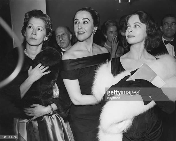 American opera singer Blanche Thebom at a party held after the world premiere of the opera 'The Moon And Sixpence' based on the novel by William...