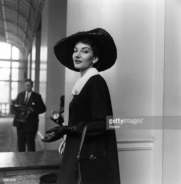 American opera singer Maria Callas, , in London. Original Publication: People Disc - HC0226