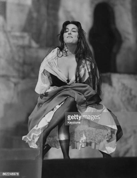 American operatic mezzosoprano Gloria Lane during dress rehearsals for 'Carmen' at the Royal Opera House Covent Garden London 20th November 1959 She...