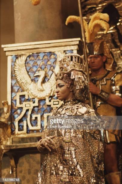 American operatic mezzosoprano Grace Bumbry as Amneris in a production of Verdi's 'Aida' circa 1965