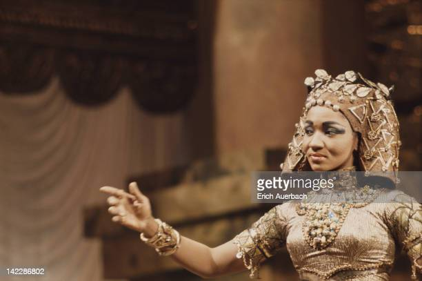 American operatic mezzosoprano Grace Bumbry as Amneris in a production of Verdi's 'Aida' circa 1965