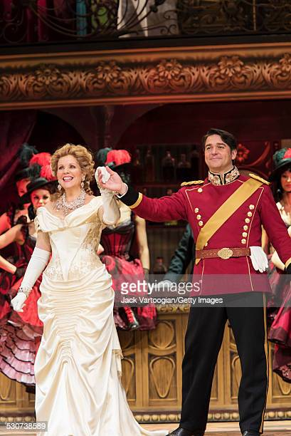 American operatic singers soprano Renee Fleming and baritone Nathan Gunn take a bow at the final dress rehearsal prior to the premiere of the new...
