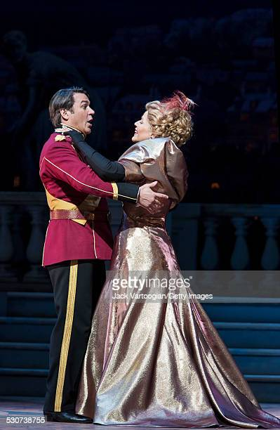 American operatic singers soprano Renee Fleming and baritone Nathan Gunn perform at the final dress rehearsal prior to the premiere of the new...