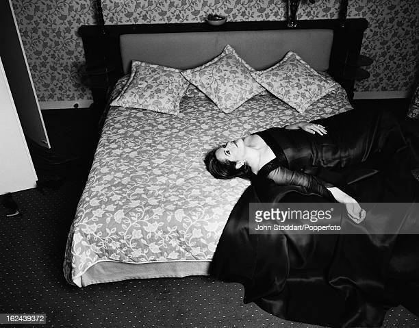 American operatic soprano Renée Fleming posed in Paris 1999