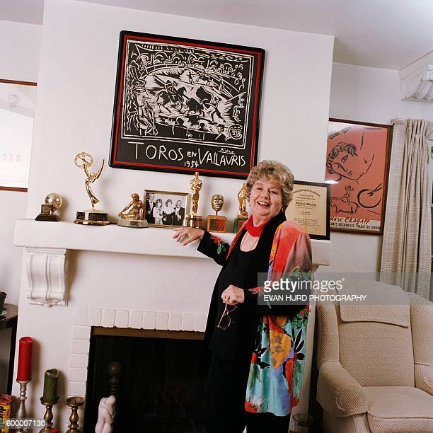 American oscarwinning actress Shelley Winters at her home in Los Angeles