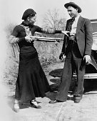 American outlaw bonnie parker playfully points a shotgun at her in picture id514872400?s=170x170