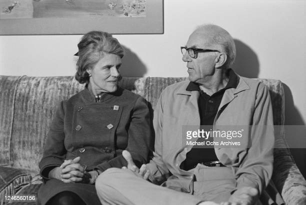 American paediatrician Dr Benjamin Spock with his wife Mary December 1968