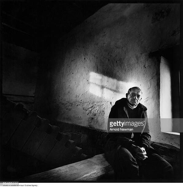 American painter Andrew Wyeth poses for portrait December 2 1976 in Chadds Ford Pennsylvania