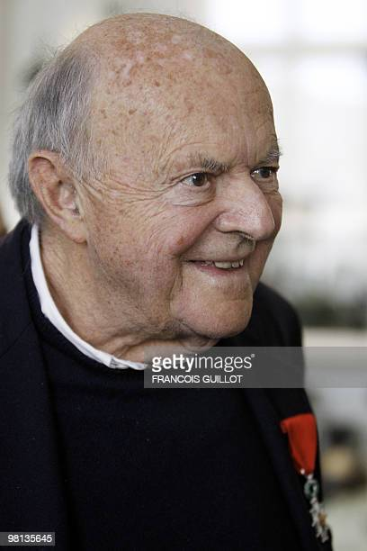 American painter Cy Twombly just awarded as Knight in order of honor attends the inauguration of his painted ceiling at the Salle des Bronzes one of...