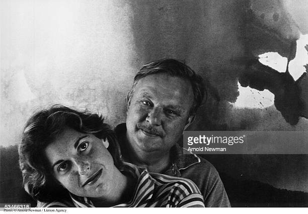 American painters Helen Frankenthaler and Robert Motherwell pose for portrait August 15 1963 in New York City
