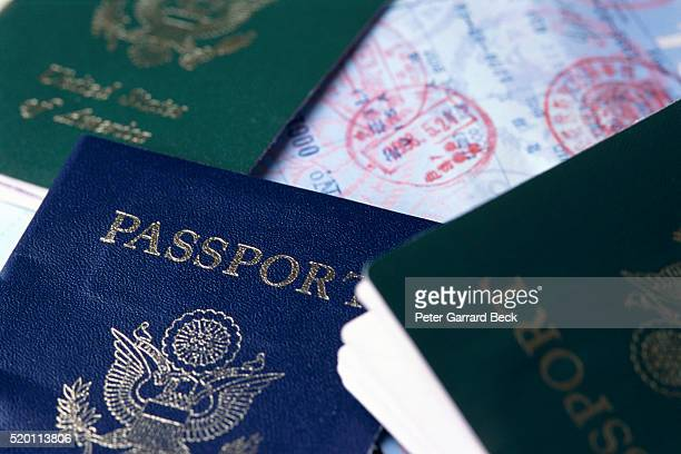 american passports - passport stock pictures, royalty-free photos & images