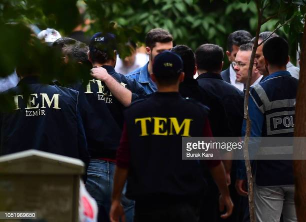 American pastor Andrew Brunson arrives at his home after being released from the court on October 12 2018 in Izmir Turkey US pastor Andrew Brunson...