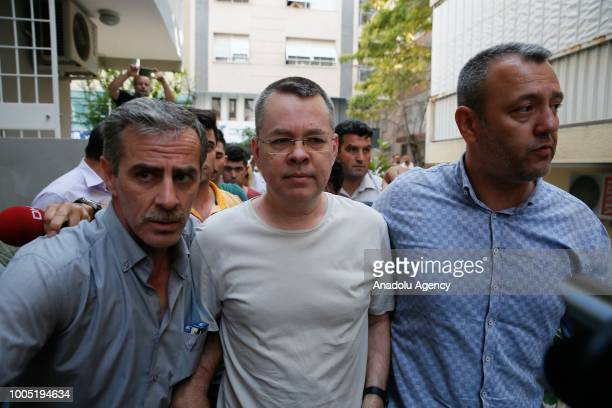 American Pastor Andrew Craig Brunson who was charged with committing crimes including spying for the PKK terror group and the Fetullah Terrorist...