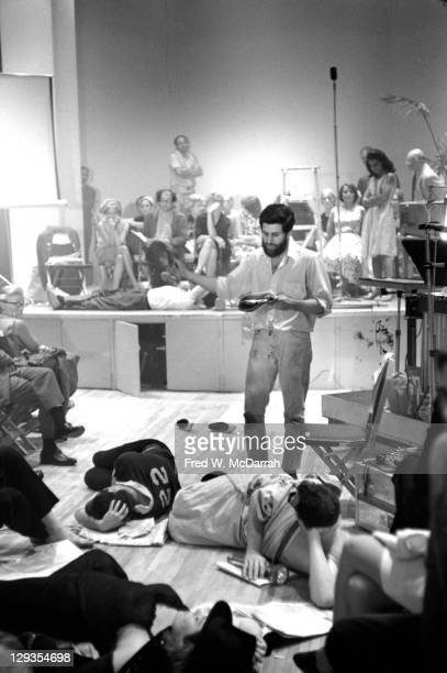 American performance artist Allan Kaprow performs at Judson Hall as part of the Second Avant Garde Festival New York New York September 8 1964
