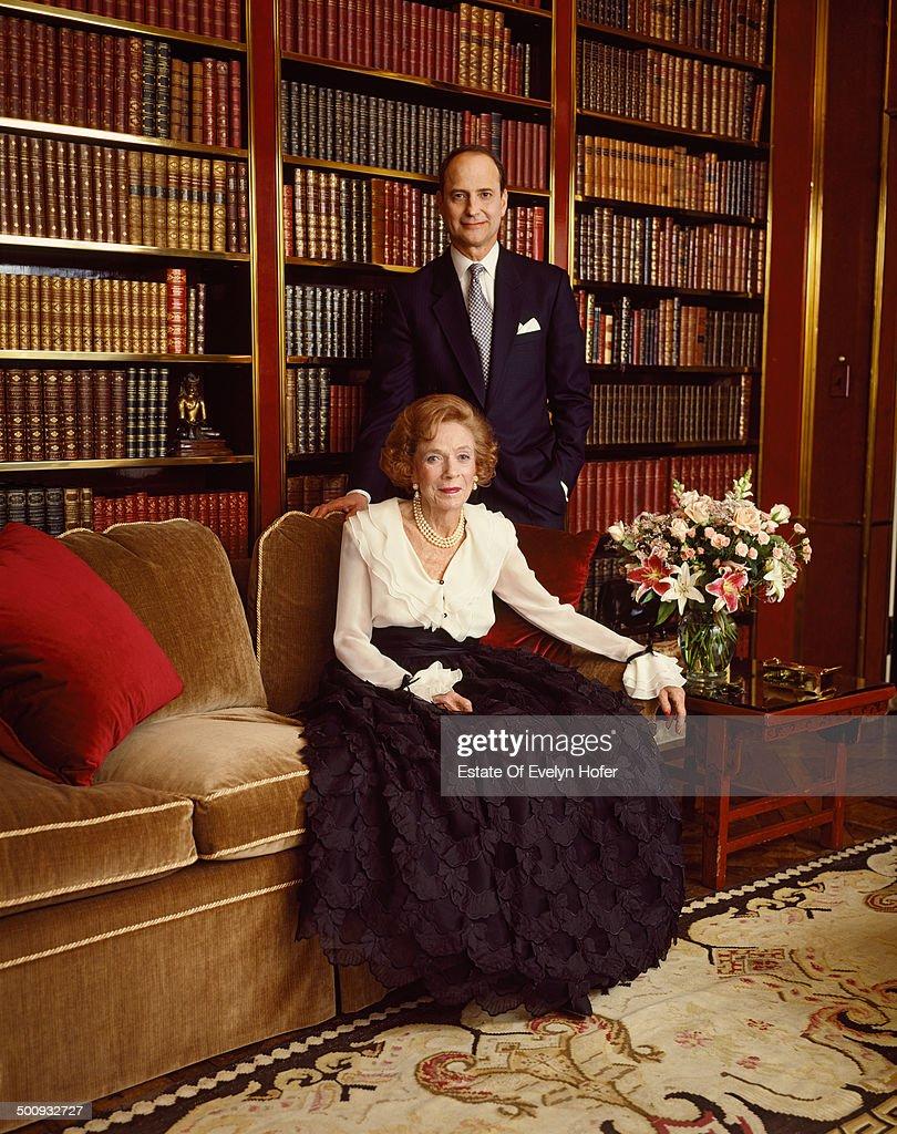 American philanthropist and socialite Brooke Astor (1902 - 2007), New York, 1995.
