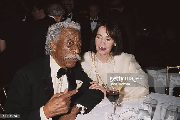 American photographer and film director Gordon Parks and American artist and author Gloria Vanderbilt attending the '8th Annual Living Landmarks...