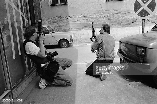 Bosnia Sarajevo July 1992 American photographer David Turnley documents street fighting during the siege of Sarajevo During the 47 months between the...