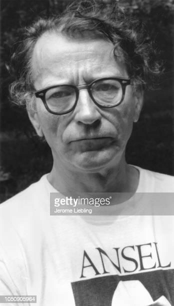 American photographer historian and Museum of Modern Art curator John Szarkowski 1978 He wears an tshirt that features photographer Ansel Adams