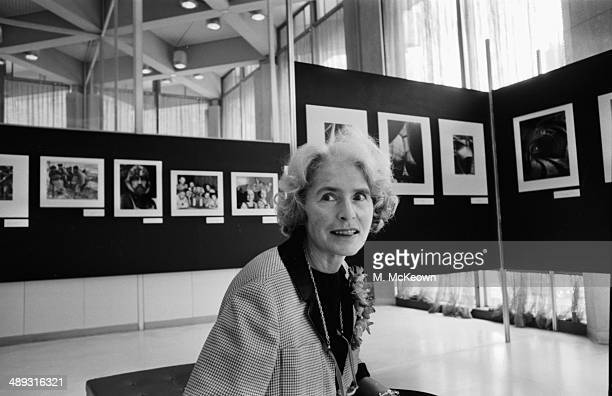 American photographer Margaret BourkeWhite attending an exhibition April 20th 1964