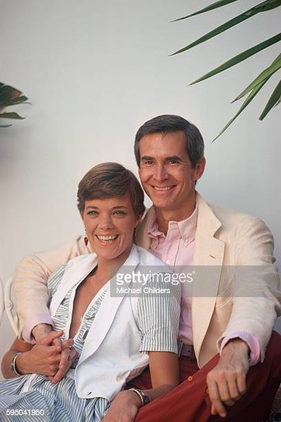American photographer, model and actress Berry Berenson and her husband, actor Anthony Perkins.