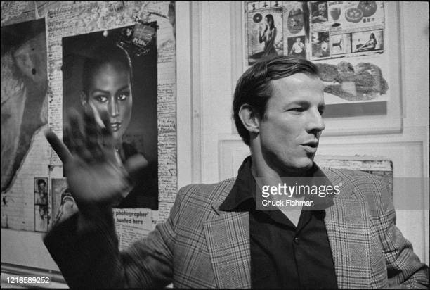 American photographer Peter Beard attends the opening of an exhibition of his works at the International Center of Photography New York New York...