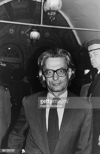 American photographer Richard Avedon attends an unspecified event at Tavern on the Green New York New York October 1 1976