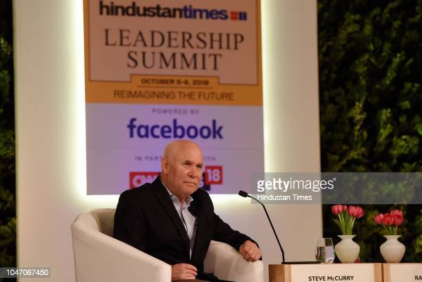 American Photographer Steve McCurry during a second day of Hindustan Times Leadership Summit 2018 at Taj Palace on October 6 2018 in New Delhi India