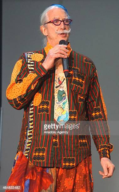 American physician social activist clown and author Dr Patch Adams delivers a speech during opening ceremony of the 1st Annual Ascent Expo at the Los...