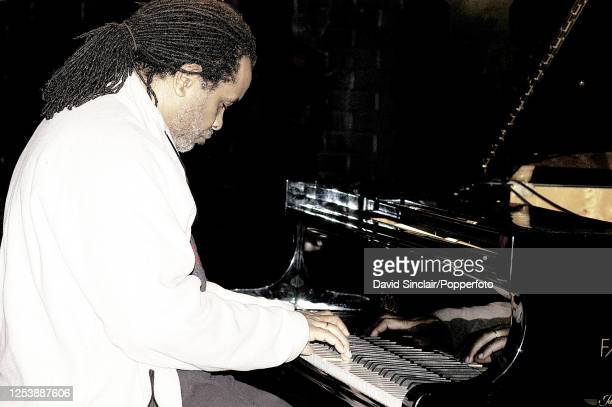 American pianist Aaron Graves performs live on stage at Ronnie Scott's Jazz Club in Soho London on 30th March 2005