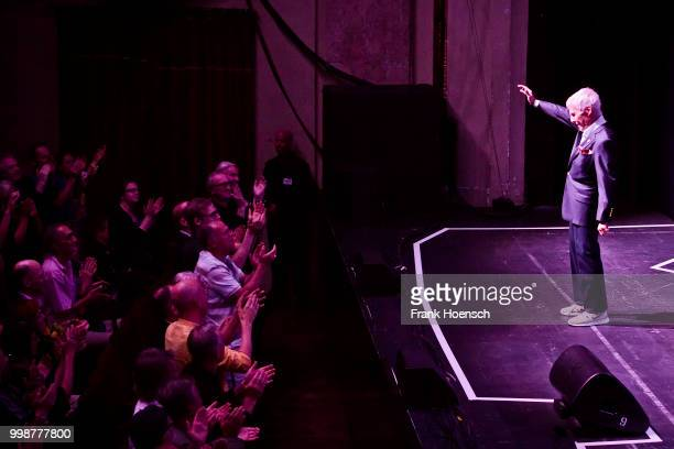 American pianist and composer Burt Bacharach performs live on stage during a concert at the Admiralspalast on July 14 2018 in Berlin Germany
