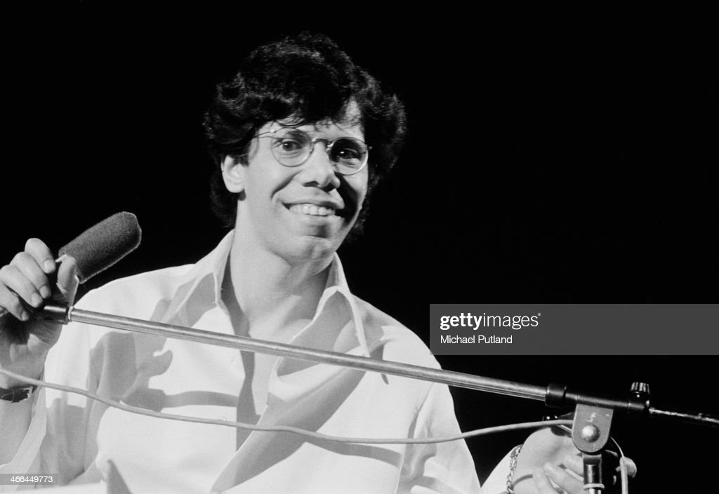 American pianist and composer Chick Corea on stage with jazz fusion group Return to Forever, March 1974.