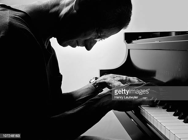 American pianist and composer Keith Jarrett poses in New York for the French publication Le Monde, in July 2010.