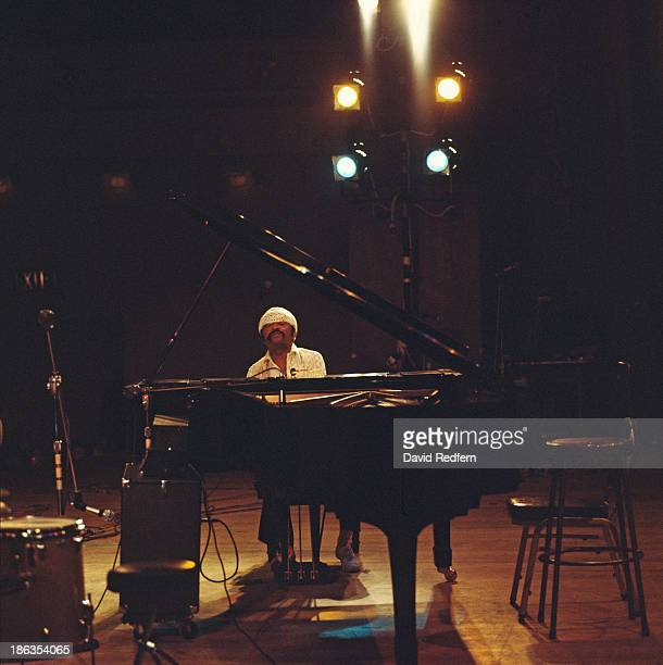 American pianist and poet Cecil Taylor performing, circa 1975.