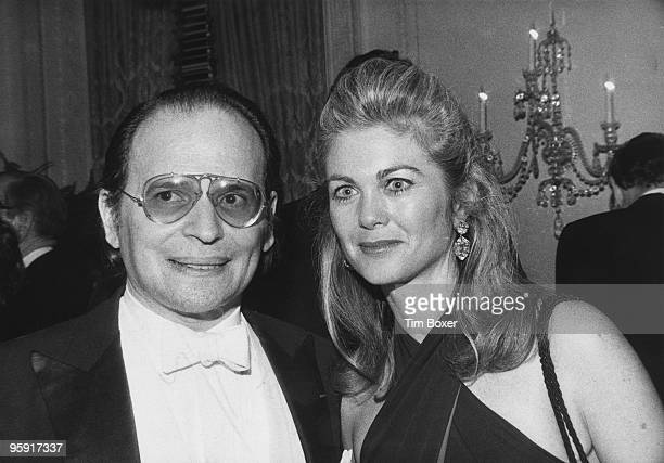 American pianist Byron Janis with his wife painter Maria Cooper Janis daughter of the actor Gary Cooper New York City 3rd March 1979 They are at a...