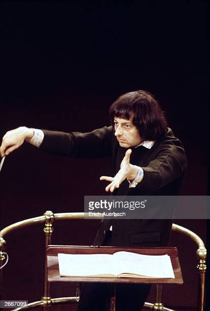 American pianist conductor and composer Andre Previn a conductorinchief of the London Symphony Orchestra and the Royal Philharmonic Orchestra