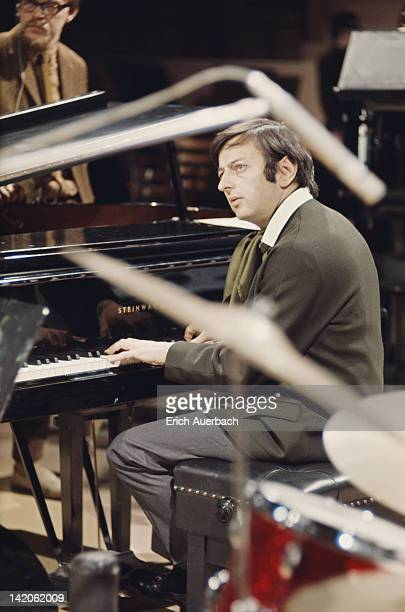 American pianist conductor and composer Andre Previn at the piano circa 1968