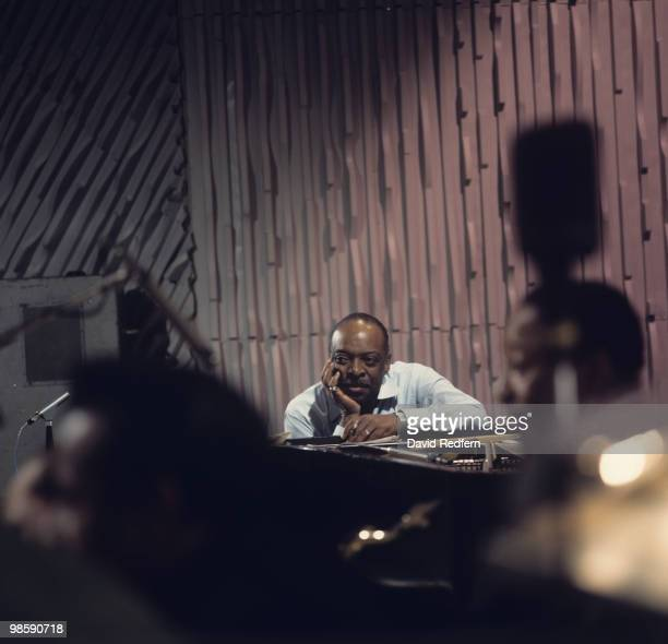 American pianist Count Basie performs on the BBC television show 'Jazz at the Maltings' on December 05 1968