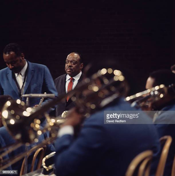 American pianist Count Basie performs with his orchestra on the BBC television show 'Jazz at the Maltings' on December 05 1968