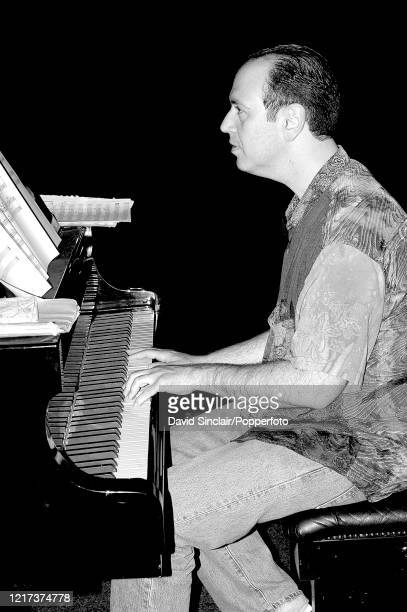 American pianist David Budway performs live on stage at Ronnie Scott's Jazz Club in Soho London on 28th June 2004