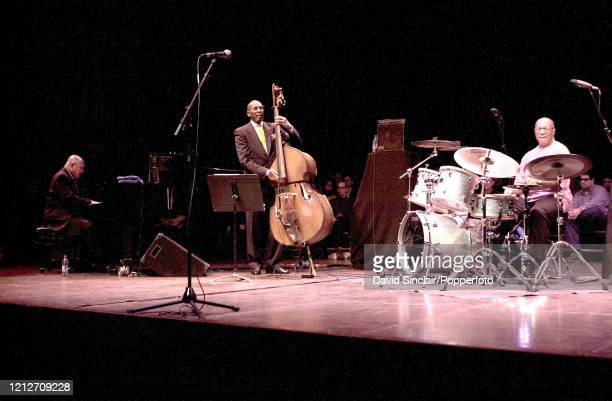 American pianist Kenny Barron performs live on stage with bassist Ron Carter and drummer Billy Cobham at Queen Elizabeth Hall in London on 22nd...