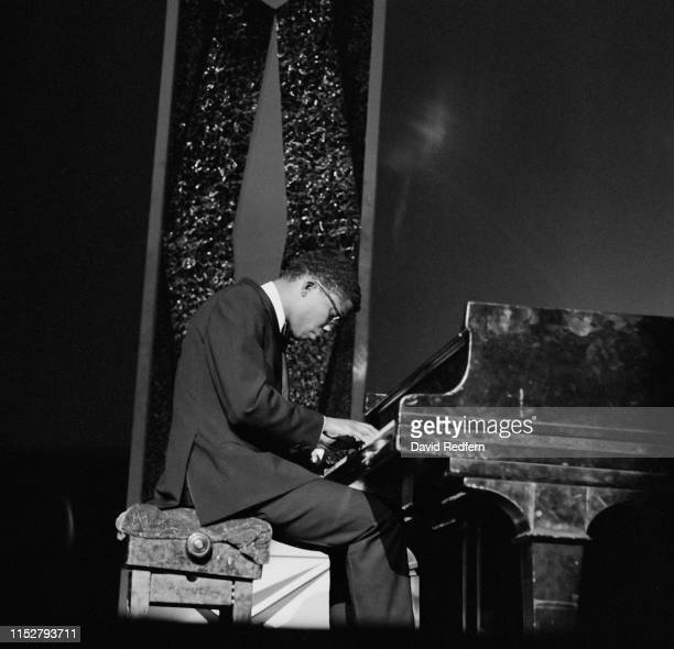 American pianist keyboardist bandleader composer and actor Herbie Hancock performs with Miles Davis's Second Great Quintet at the Hammersmith Odeon...