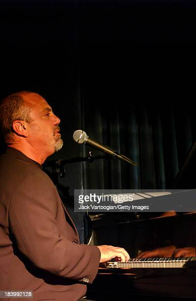 American pianist singersongwriter and composer Billy Joel makes a special guest appearance with the Toots Thielemans Quartet on the first night of...