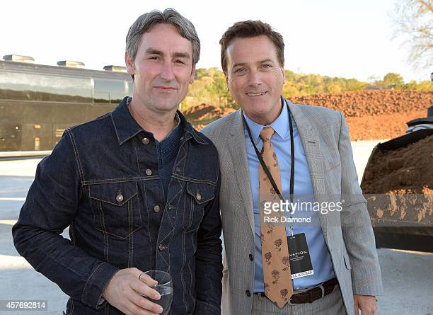 American Picker Mike Wolfe and Singer/Songwriter Michael W Smith attend Ovation VIP Groundbreaking Celebration on October 22 2014 in Franklin...