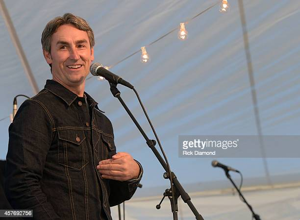 American Picker Mike Wolfe attends Ovation VIP Groundbreaking Celebration on October 22 2014 in Franklin Tennessee