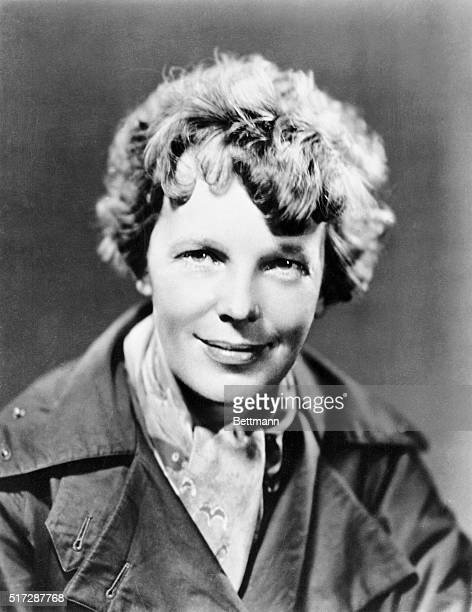 American pilot Amelia Earhart who will soon be appearing in an NBC radio drama 1935