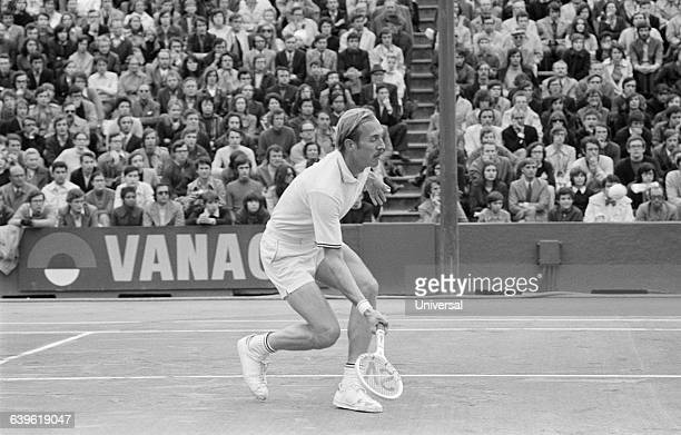American player Stan Smith during the 1972 Roland Garros French Open